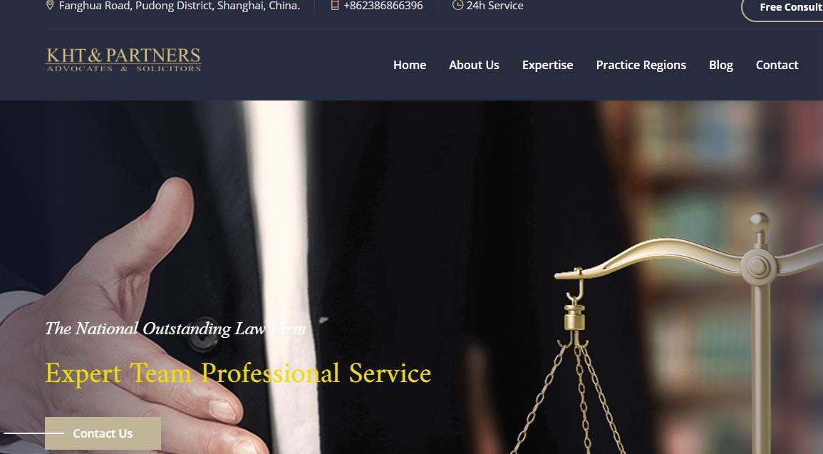Warm congratulations on law office in china Website opened